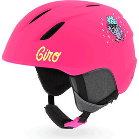Giro Launch Kask Dzieci, matte bright pink/disco birds